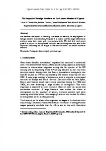 The Impact of Foreign Workers on the Labour Market of Cyprus 1 ...