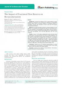 The Impact of Fractional Flow Reserve on
