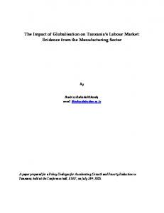 The Impact of Globalisation on Tanzania's Labour Market: Evidence