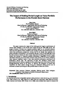 The Impact of Holding Period Length on Value ...