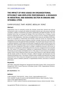 the impact of hris usage on organizational efficiency and employee ...