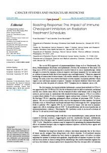 The Impact of Immune Checkpoint Inhibitors on Radiation Treatment ...