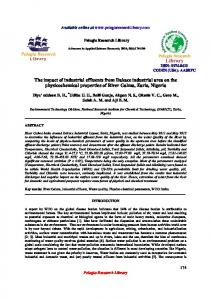 The impact of industrial effluents from Dakace industrial ... - iMedPub
