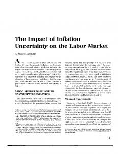 The Impact of Inflation Uncertainty on the Labor Market - CiteSeerX