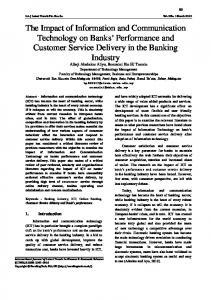 The Impact of Information and Communication Technology on Banks ...