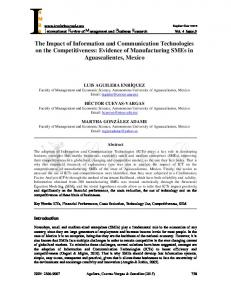 The Impact of Information and Communication Technologies on ... - irmbr