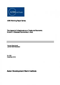 The Impact of Infrastructure on Trade and Economic Growth - Asian ...