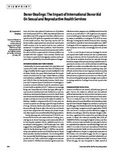 The Impact of International Donor Aid on Secual ... - Guttmacher Institute