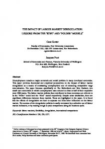 THE IMPACT OF LABOUR MARKET DEREGULATION - Description