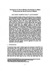 The Impact of Labour Market Liberalization on Maize ... - ZEF