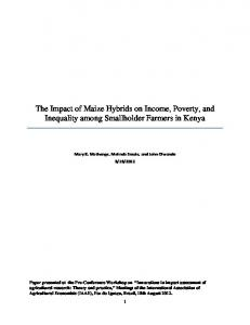 The Impact of Maize Hybrids on Income, Poverty, and ... - CiteSeerX