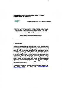 the impact of market structure and price discrimination strategies - SIET
