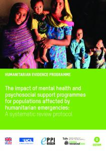 The impact of mental health and psychosocial support ...