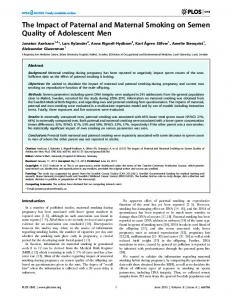 The Impact of Paternal and Maternal Smoking on ... - Semantic Scholar