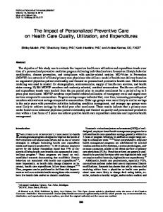The Impact of Personalized Preventive Care on Health Care Quality ...