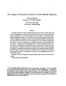 The Impact of Productivity Growth on Labor Market ... - CiteSeerX