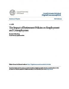 The Impact of Retirement Policies on Employment
