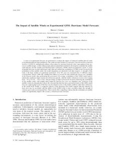 The Impact of Satellite Winds on Experimental
