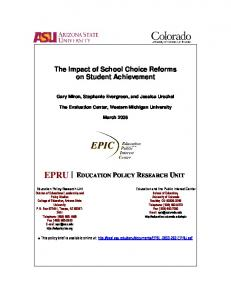 The Impact of School Choice Reforms on Student Achievement