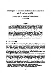 The impact of sentiment and attention measures on ...