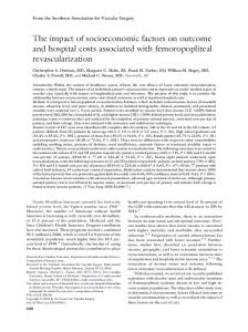 The impact of socioeconomic factors on outcome and hospital costs ...