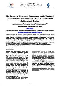 The Impact of Structural Parameters on the Electrical Characteristics of ...