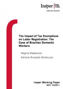The Impact of Tax Exemptions on Labor Registration - Insper