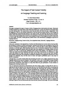 The Impact of Test Content Validity on Language ... - CiteSeerX