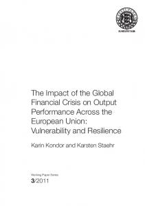 The Impact of the Global Financial Crisis on Output ... - Eesti Pank