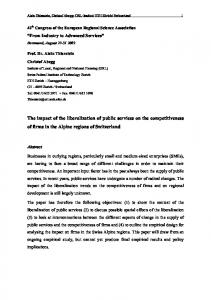 The impact of the liberalization of public services on the