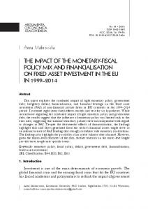 the impact of the monetary-fiscal policy mix and ...