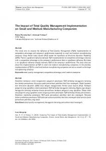 The Impact of Total Quality Management