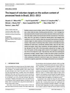 The impact of voluntary targets on the sodium content of processed ...