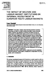 the impact of welfare and labour market institutions on informal ...