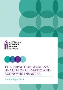 The impact on women's health of climatic and economic disaster.