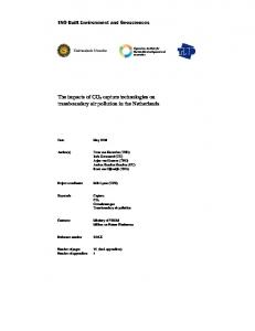 The impacts of CO2 capture technologies on transboundary air ... - RIVM