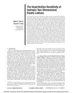 The Imperfection Sensitivity of Isotropic Two-Dimensional Elastic Lattices