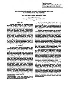 THE IMPLEMENTATION AND APPLICATION OF MICRO ... - UCLA CS
