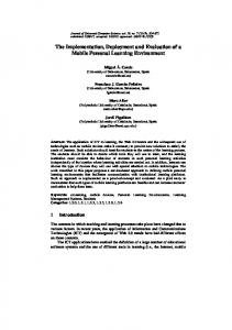 The Implementation, Deployment and Evaluation ... - Semantic Scholar