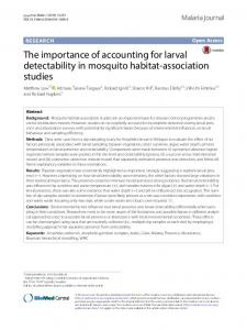 The importance of accounting for larval detectability in ... - Springer Link