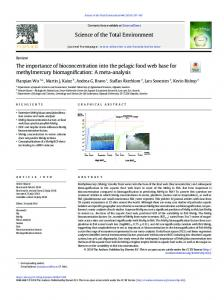 The importance of bioconcentration into the pelagic