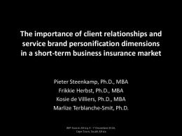 The importance of client relationships and service ...