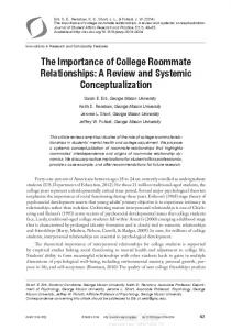 The Importance of College Roommate Relationships - George Mason ...