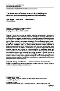 The importance of crustal structure in explaining the ... - Springer Link