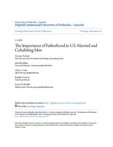 The Importance of Fatherhood to U.S. Married and Cohabiting Men