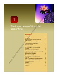 The importance of financial accounting