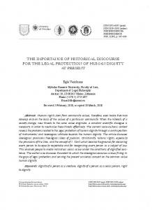 ThE IMPOrTANCE Of hISTOrICAL DISCOUrSE fOr ThE LEgAL ... - MRU
