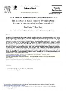 The Importance of Human Resources Development ... - ScienceDirect