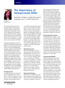 The Importance of Interpersonal Skills - Alexcel Group