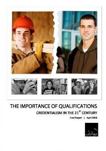 the importance of qualifications
